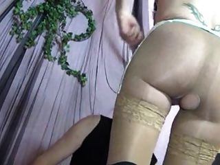 A Sexy Mature Gets Fucked In Tan Lace Top Stockings