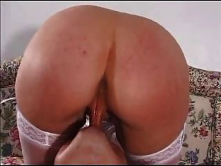 British Blond Busty Housewife Loves It In The Bum