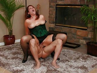 Hot Busty Milf Ryan Banging In Stockings
