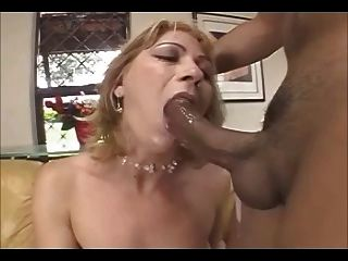Hot Brazilian Mature Lady With Sexy Outfit And Lace Gloves
