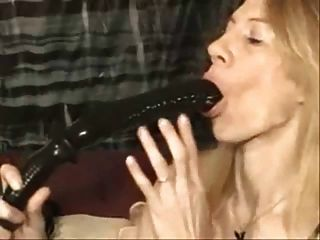 Swallowing Dildos Deep
