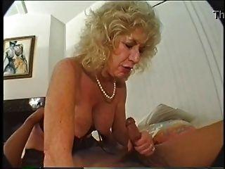 Hairy Granny Loves Dildo And Bbc