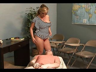 Ballbusting And Cock Biting Milf Teacher Joclyn Stone