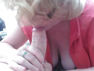 Horny Blonde Sucking And Wanking My Cock Milf Wifey Big Tits