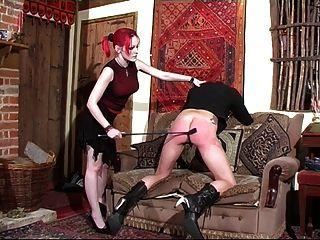 Daughter Spanks Her Stepmother.