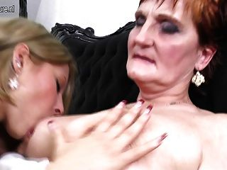 Grandma Teaching Young Girl A Lesbian Love