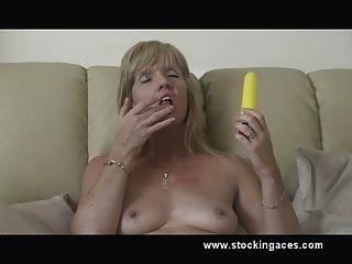 Stocking Slut Jill Pussy Play