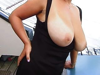 Blonde Huge-boobs-milf Posing