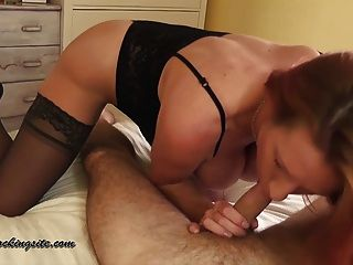 British Milf Takes Your Cum In Her Mouth