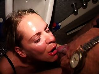 German Mature Messy Threesome
