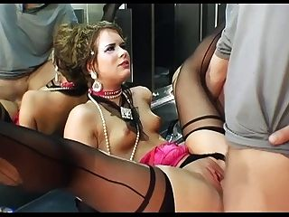 Anal Sex In Ripped Thigh High Stockings And Gloves