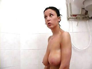 Sexy brunette busty
