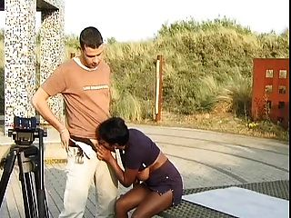Dutch Indian Voyeur With Natural Boobs Have Threesome.