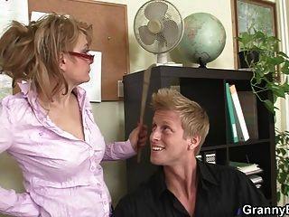 Mature Office Boss Makes Him Fuck Her Hard