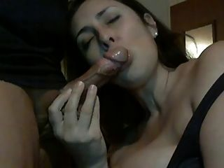 Homemade bigboobed girl sucks and swallows 3