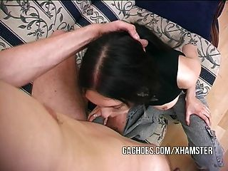 Gagging And Facial For Cute Little Emo Slut