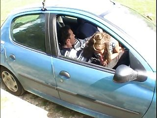 French Chick Fucked By Driving Instructor