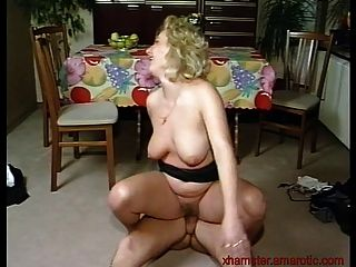 Blonde Milf Gets Fucked On The Floor