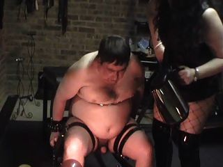 Femdom boiling water torture