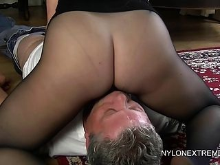 Housewife handjob nylon