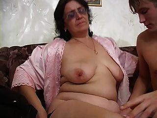 Mom With Wide Ass, Saggy Tits, Hairy Cunt & Guy