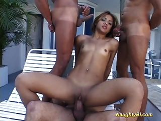 Naughty Bisexual Hard Fuck Sex Frousome Group Deep