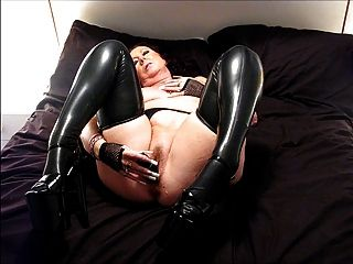 Heels and women latex
