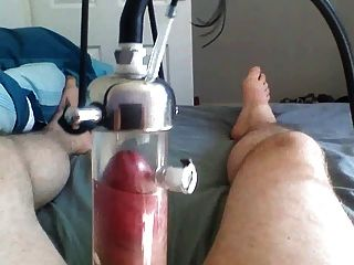 Cuckold milked to oblivion by male milking machine