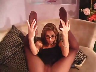 Milf In Glasses Pantyhose Play
