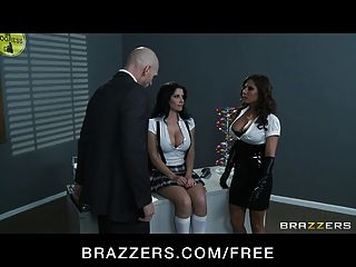 Brazzers - Madison Ivy & Rebeca Linares Start Threesome