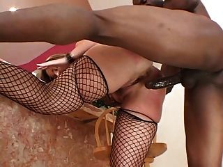 Huge Black Dick In The Ass For This Cock Sucking Anal Whore In Stockings