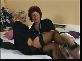 Horny Old Red Head Fingers Her Pussy During Phone Sex