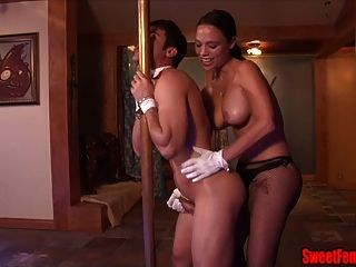 Sexy Night Club Boss Veronica Love Strapon Ballbusting Fuck