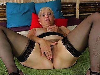 Naughty Mature Slut Teasing Herself With Her Toy