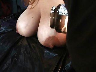 Women lactatin in bondage