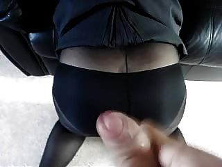 Cum On Tights And Skirt