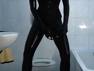 Ne Sexy Frau In Latex