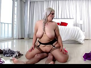 Bbw stockings anal