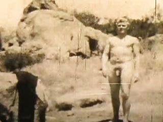 Male Nudist Keeps Fit