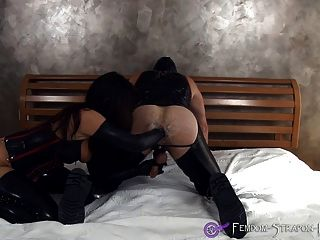 Mistress Angelina Anally Fists Man Until Cumshot