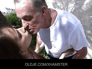 Nasty Teeny Tricks Old Man To Fuck