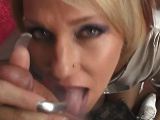 Long Nailed Milf Sucks Cock