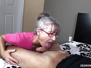 Horny Grandma Sucking a Young Cock - Free Porn Videos