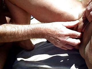 Stranger And Sex Toy Playing Mature In Dunes
