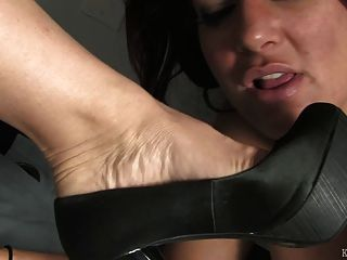 Foot Fetish Under The Desk