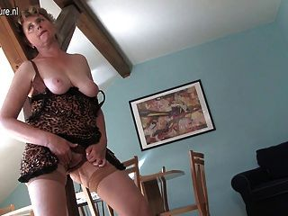 Cleaning Granny Is Getting Very Dirty