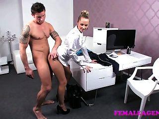 Femaleagent Arrogant Stud Put Through His Paces