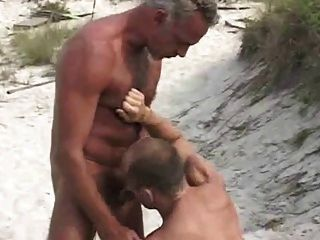 Rendezvous In The Dunes With Tanned Daddy