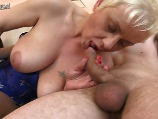 Slut Granny Fucking Her Ass Off