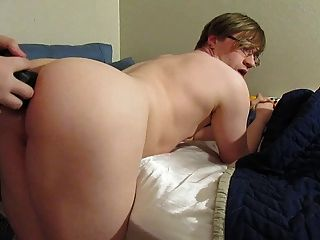 Femboy Twink Stuffed With Dildo